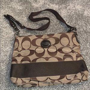Brown/tan Coach satchel